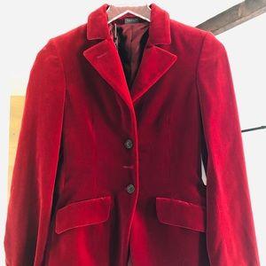 Alexander McQueen Red Velvet blazer